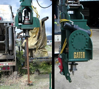 Gater Grapples Screw Pile Auger
